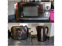 Signature Microwave,toaster and kettle
