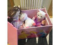 Toy box with girls toys age 3 to 4yrs