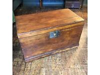 Antique wooden chest/trunk
