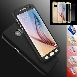 Hybrid-360-Hard-Case-Tempered-Glass-Cover-For-Samsung-Galaxy-S6-S7-Edge-S8