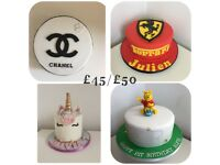 Birthday cake for £35, cupcakes for £1