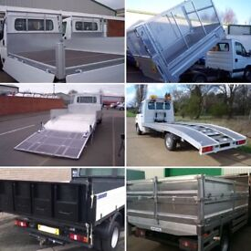 Tipper beavertail recovery tailgate dropsides cage aluminium steel truck body builders manufacturers
