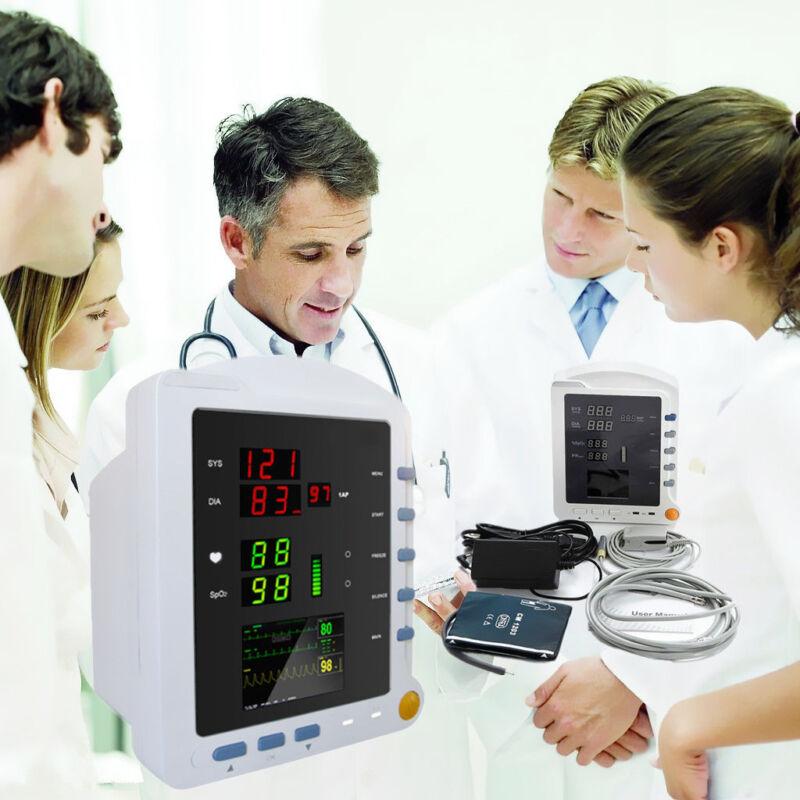 Portable Vital Sings Monitor ICU Patient Monitor NIBP SPO2 PR CMS5100 Color SALE