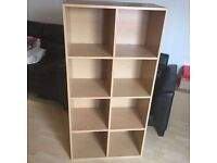 Bookcase / Bookshelf - Beech Effect. Good Condition