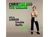 4x Christine & the Queens standing tickets, Hammersmith Apollo London, Tuesday 20th November 2018