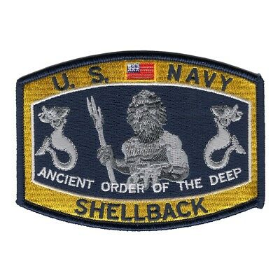 US NAVY Military Patch ANCIENT ORDER SHELLBACK HAT PATCH RATINGS PATCH