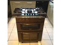 Built in Hotpoint double oven and grill plus 5 burner gas hob