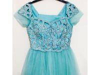 Gorgeous light blue diamanti party dress