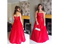 Beautiful red prom/ball dress for sale