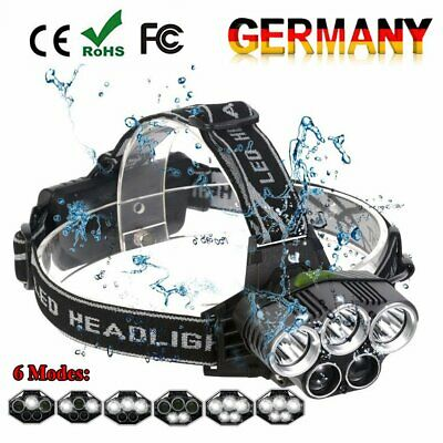 15000LM LED Scheinwerfer Taschenlampe Angeln Kopflicht Fahrrad Stirnlampe 6 Modi Taschenlampe Scheinwerfer Scheinwerfer