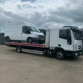 24/7 CAR VAN RECOVERY TOW TRUCK TOWING VEHICLE BREAKDOWN FORKLIFT TRAILER TRANSPORT DELIVERY