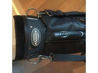 Knight Light Weight Black and Gold Golf Bag