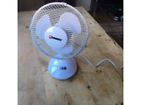123goforit Desktop oscillating fan, white, 2 speed