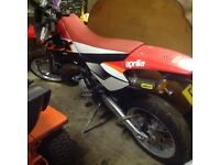 Aprilia mx 125 Supermoto. Very low miles