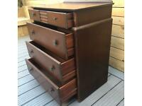 Vintage 1940's Stag Art Deco Four Drawer Chest - project / Upcycle
