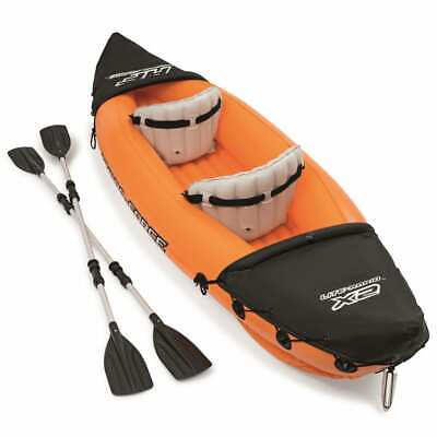 Bestway Hydro-Force Inflatable Kayak Lite Rapid X2 with Oars Canoe Rowing Boat