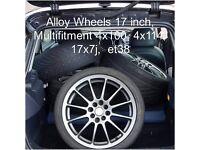 Alloy Wheels, 17 inch, 4x100/ 4x114.