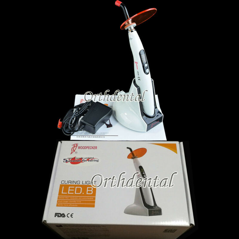 LED Curing Light  Woodpecker Original 5 Second Dental Lamp Wireless 1400mw LED B