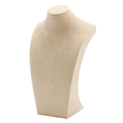 Necklace Pendant Display Bust Mannequin Jewelry Display Stand Linen 1829cm