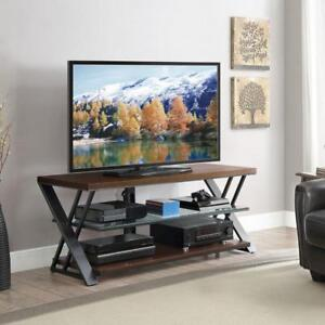 "Whalen Logan 65"" Bench / Console TV Stand - Warm Brown TVs measuring up to 65"""