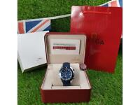 Omega Seamaster Blue New In- Complete Set Box And Papers 1 Year Free Warranty
