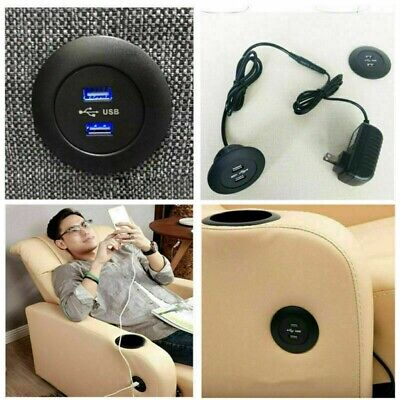 USB Charger For Table Sofa Dual USB Desktop Accessories Restaurants Office Safe