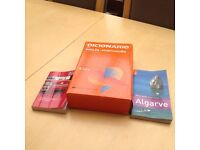 Portuguese dictionary, travel guide and a phrases expression book