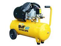 Wolf 150 PSI Cheyenne 50 Litre 3HP 14CFM 240v Portable Air Compressor V Twin
