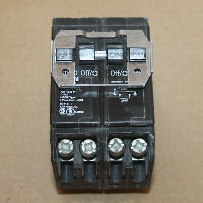 Eaton Cutler Hammer Bqc220220 2 Pole Quad 120240v 2020 Amp A2020ct Breaker