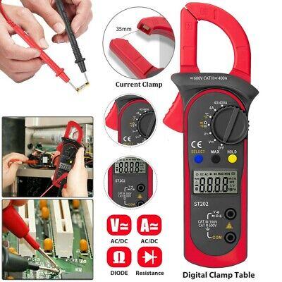 Digital Multimeter Tester Ohm Amp Clamp Meter Auto Range Lcd Handheld Ac Dc Volt