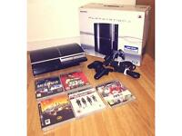 PlayStation 3 80GB 5 + 5 Games + 1 Controller Boxed (Testing Is Welcome) PS3