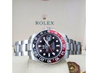 £120!!! Silver Rokex Gmt Master II Cola Or £140!!! Rolex Bagged and Boxed with Paperwork