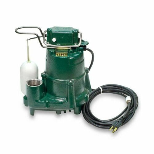 Zoeller M53 Sump Pump 1/3 HP Cast Iron Submersible w/ Vertical Float Switch 110V