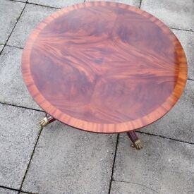 Attractive veneered coffee table
