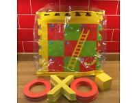 ELC Foam Snakes & Ladders Floor game. 2-in-1 with Noughts & Crosses for reverse