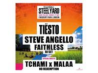 Tiesto Steel Yard London Ticket - 27th May