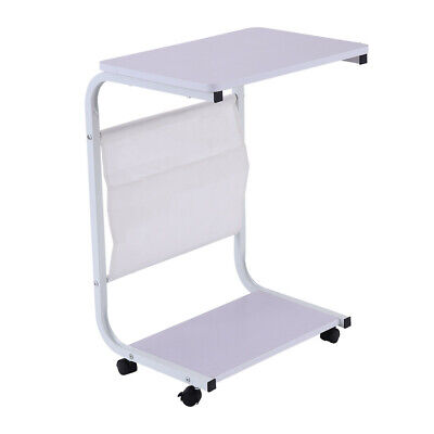 Wood Coffee Tray TV Snack Dinner Sofa Side End Stand Laptop Rolling Table White