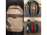 Gucci Burberry Holdalls Luggage Gym Duffle Designer bags london cheap hendon barnet east north west