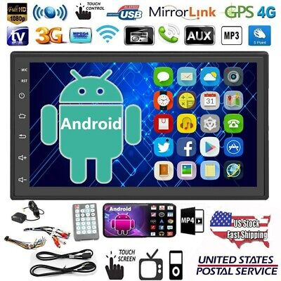 "Android 8.1 7"" Car Stereo Radio 2 DIN GPS Navi Bluetooth MP5 Player + 2.5D Glass"