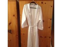 Cream,silk like, dressing gown and nighti from M&S