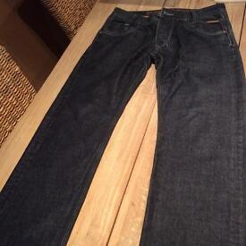 Men's police jeans