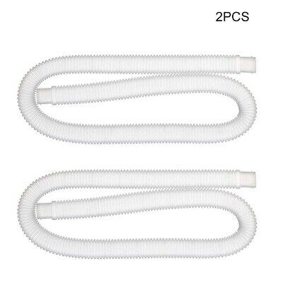 2x Pool Hose 1.25inch Diameter Plastic Swimming Pool Pump Hose Replacement Pipe