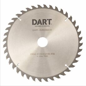 DART SILVER TCT WOOD CUTTING BLADES 2 SIZES 184MM 30 MM BORE AND 190 MM 30 MM BORE
