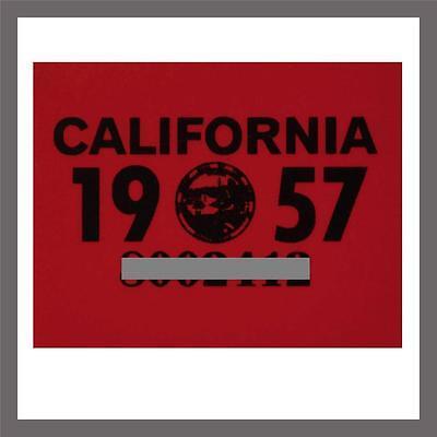 1957 California Yom Dmv Car Truck Trailer License Plate Sticker   Tag Ca 1956 57