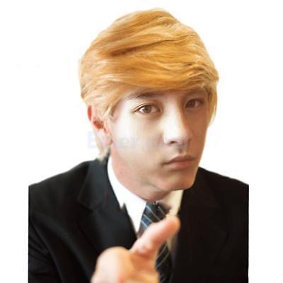 Mode Synthetische perücke blond herren Cosplay Donald Trump Kostüm