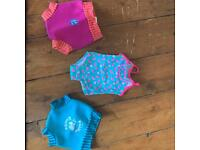 Baby Girl Swimming Costume and 2 Swim Nappies, 3-6 months
