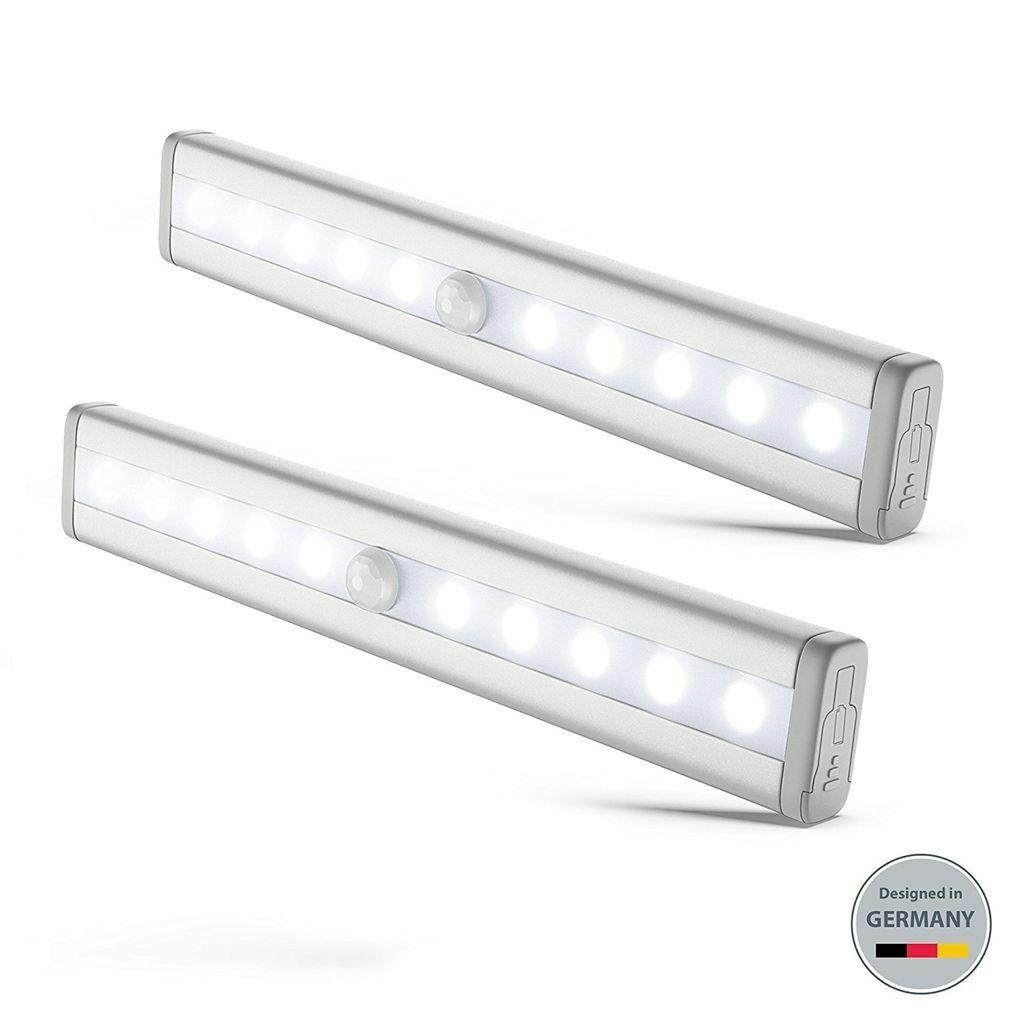 LED Unterbauleuchte Küche Lampe Schrank-Licht Nachtlicht Bewegungsmelder 2er SET