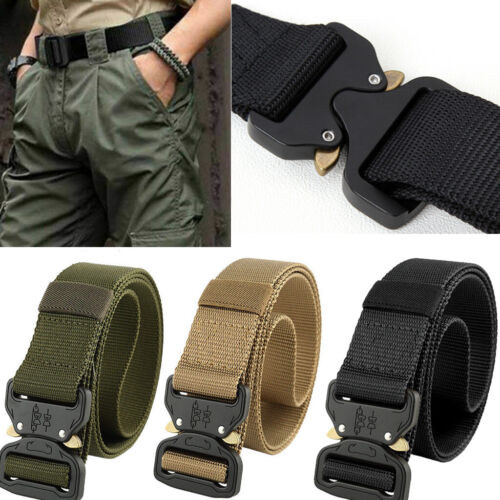Casual Military Tactical Belt Mens Army Combat Outdoor Rescue Rigger Waistband