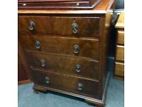Lovely vintage walnut chest of drawers