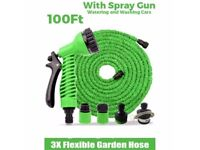 100ft Expandable hose Double layer Green/ Blue